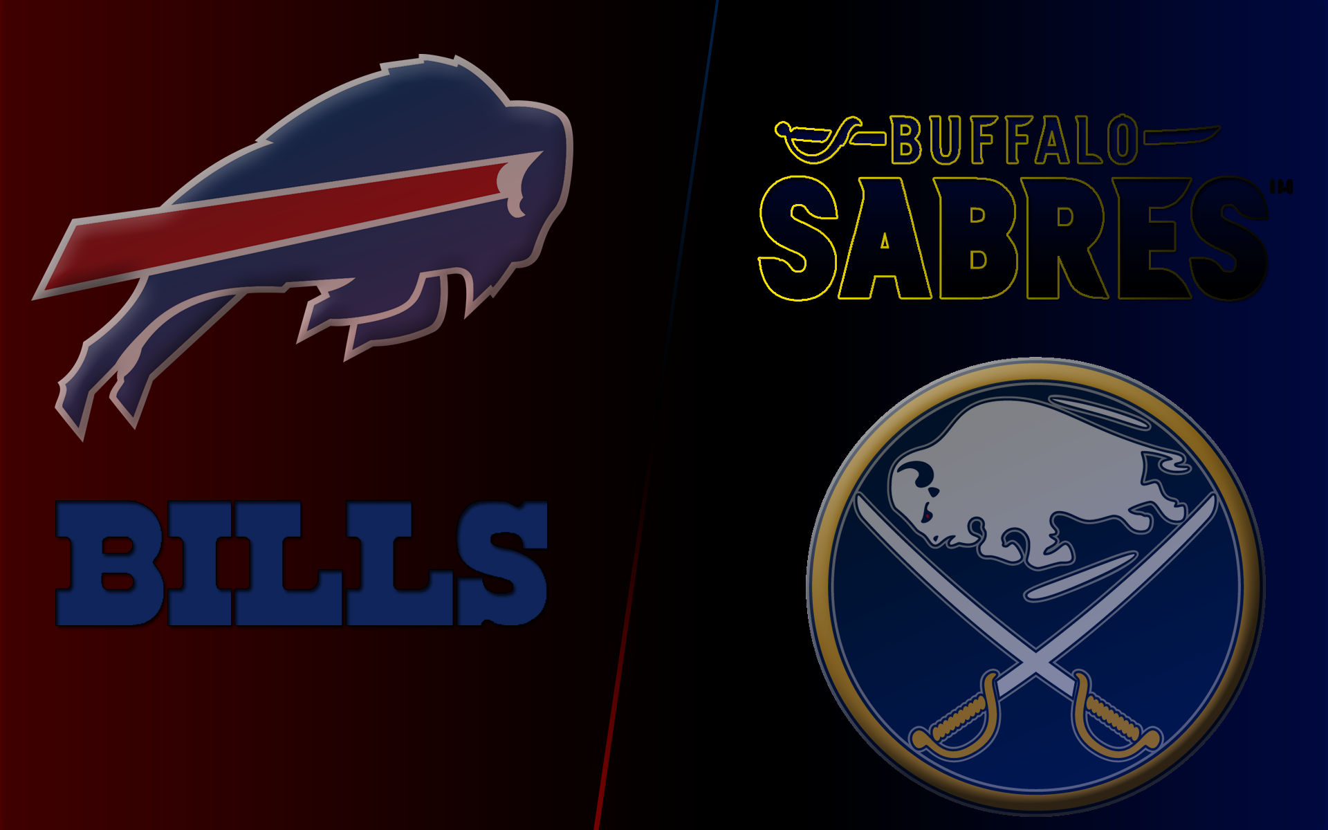 Buffalo BillsBuffalo Sabres Wallpaper by SirMudbone 1920x1200