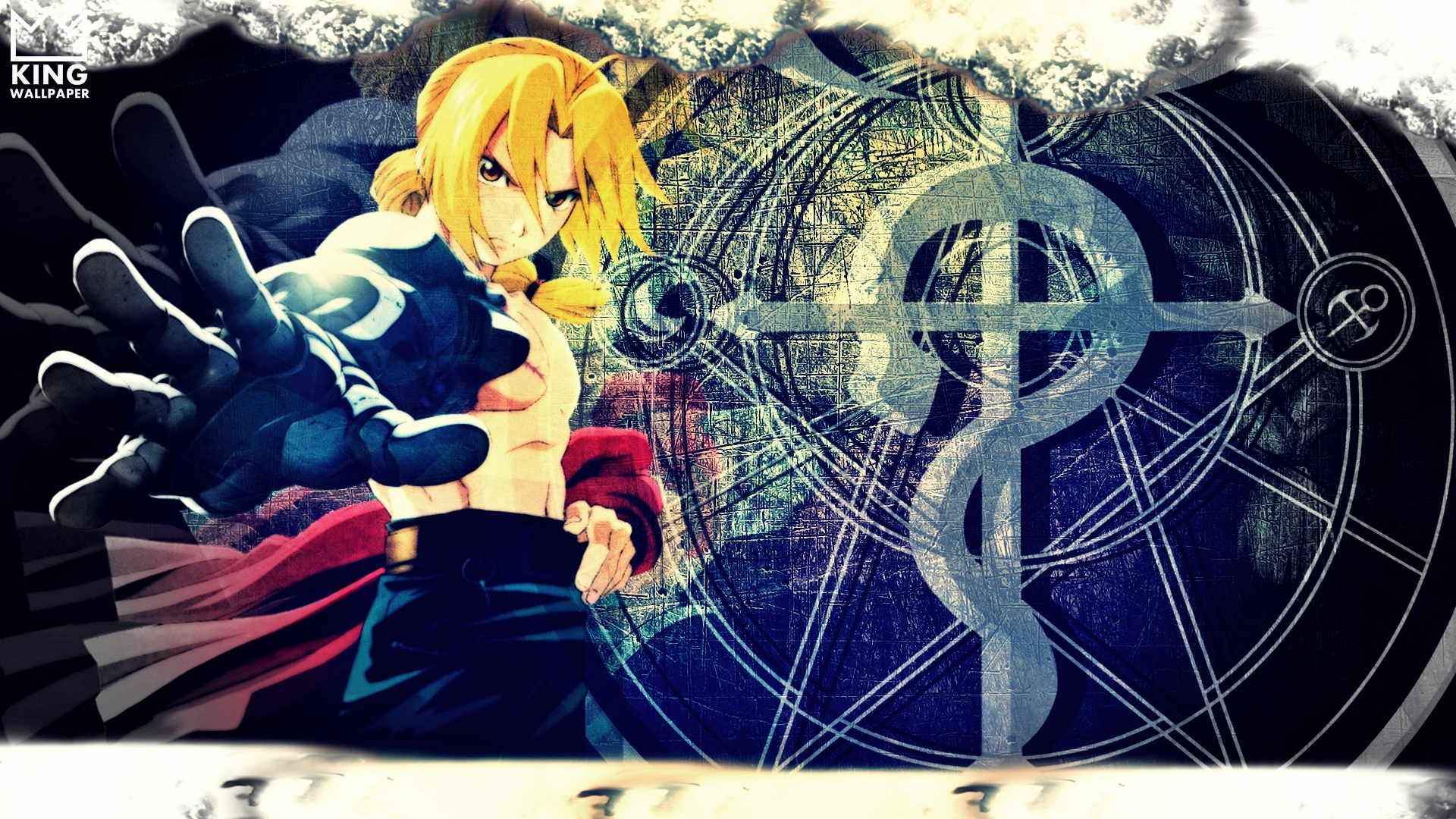 Edward Elric Wallpaper   FMA by Kingwallpaper 1920x1080