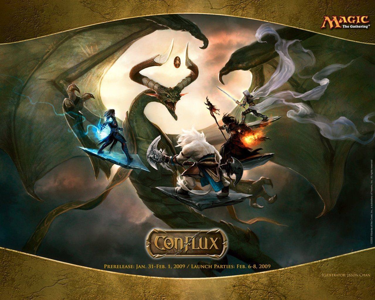 Wallpaper of the Week Conflux Fat Pack Mural Daily MTG Magic The 1280x1024
