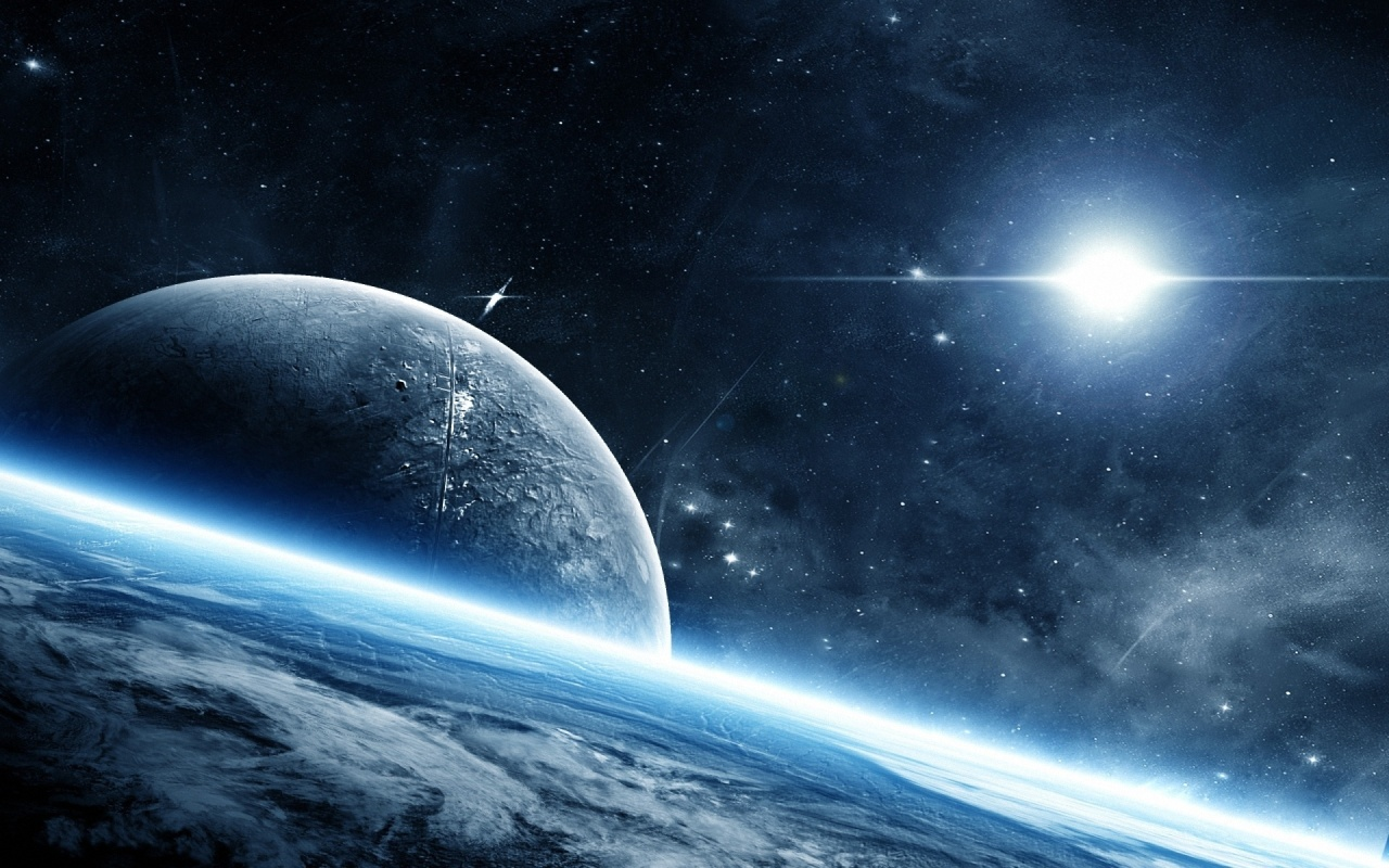 Beautiful Space Planets Wallpaper 1280x800