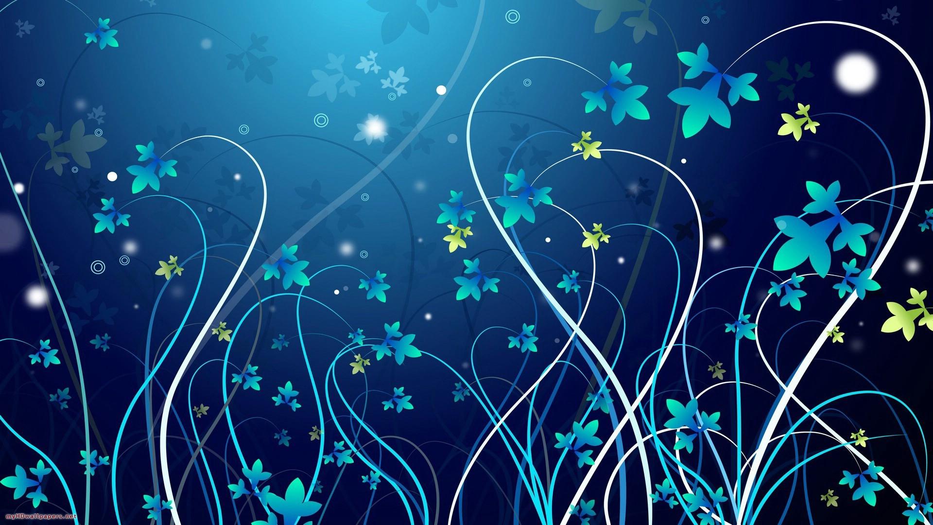 Blue flowers wallpaper Wallpaper Wide HD 1920x1080