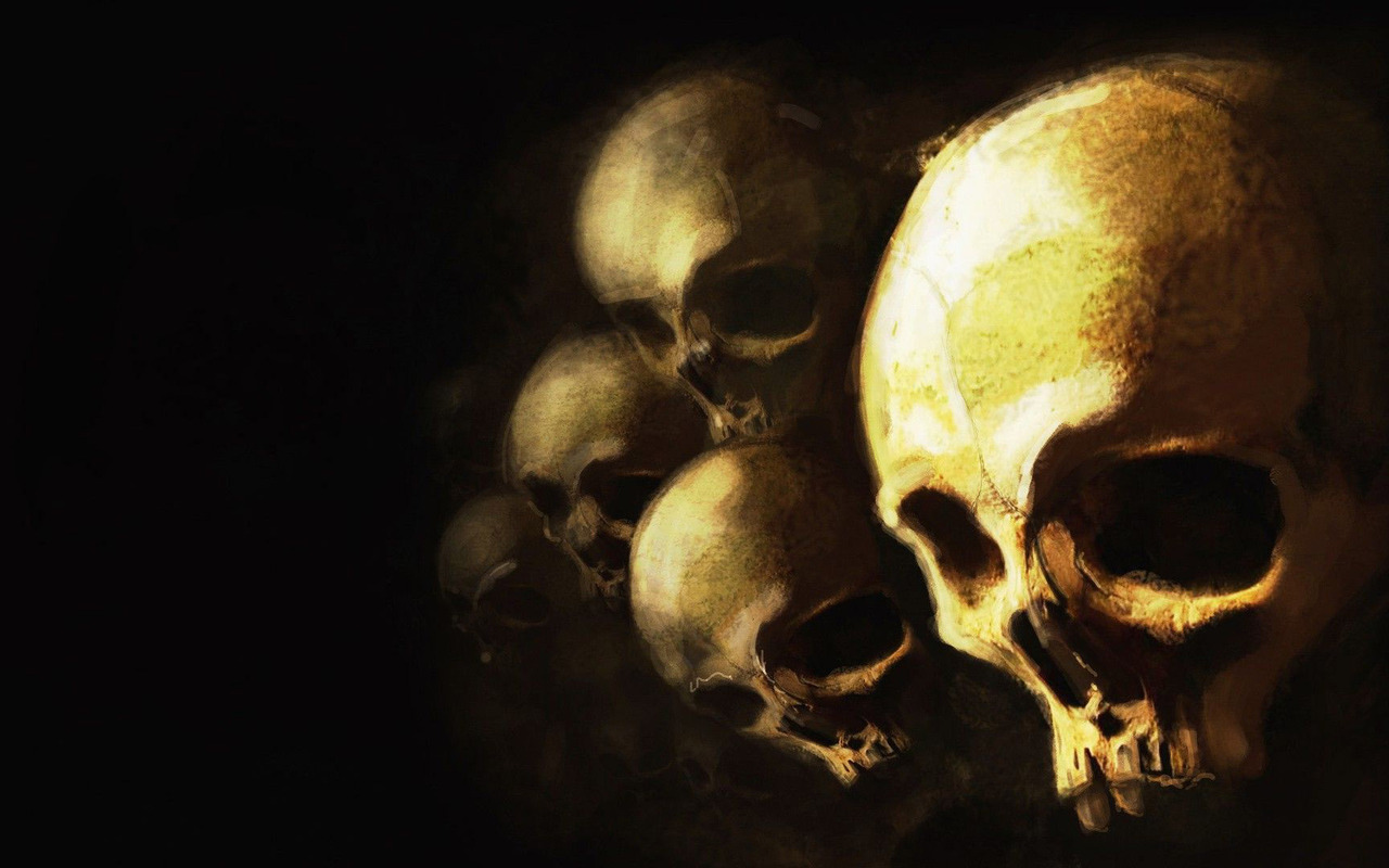 Skulls wallpaper 23371 1280x800