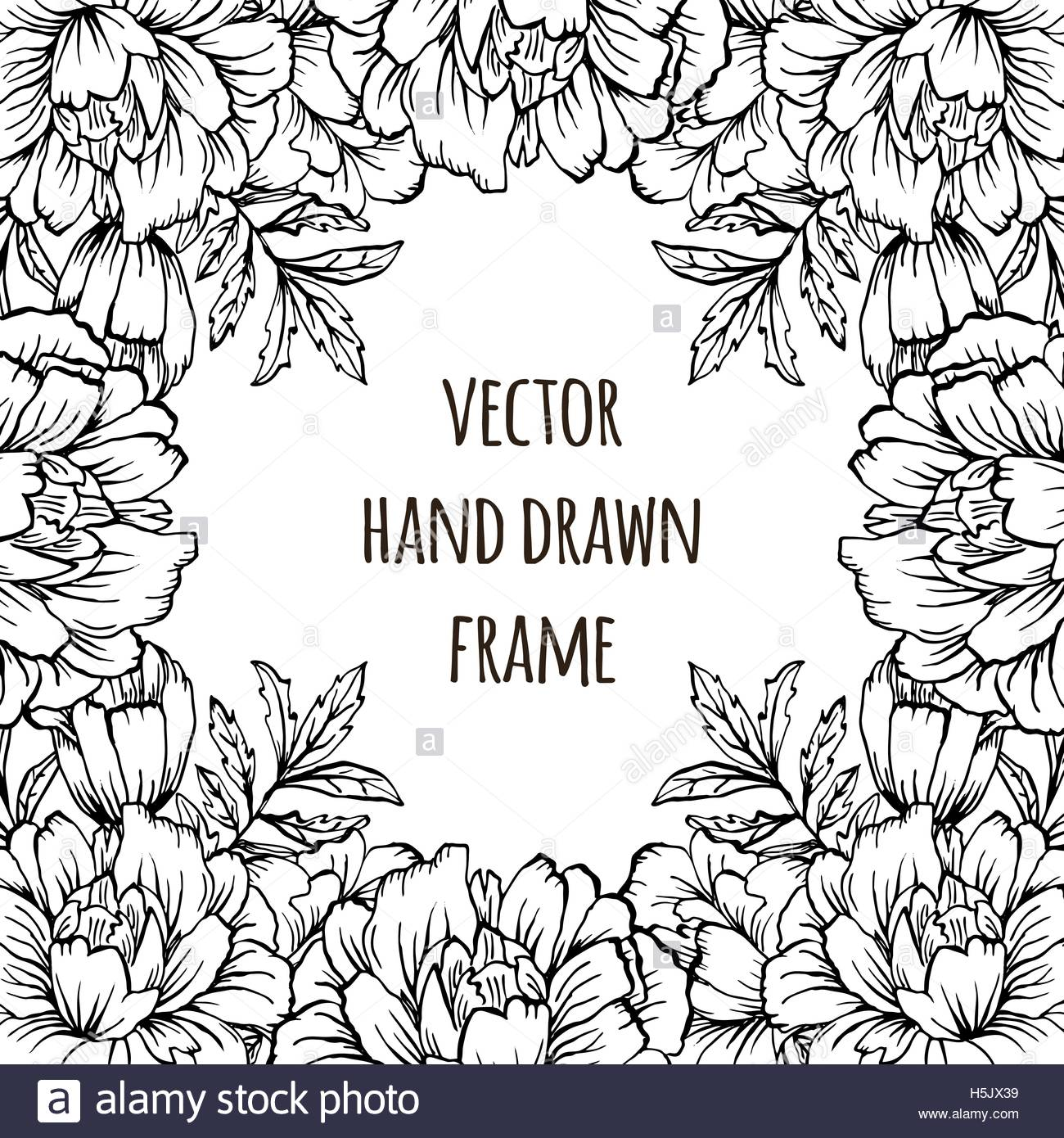 Ornate floral flyer with flowers Doodle sharpie background 1300x1390