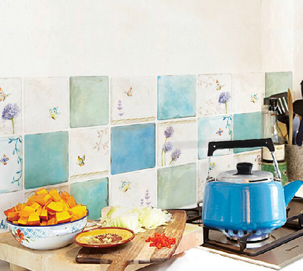 wallpaper washable wall paper adhesive kitchen tiles stickers Picture 607x543