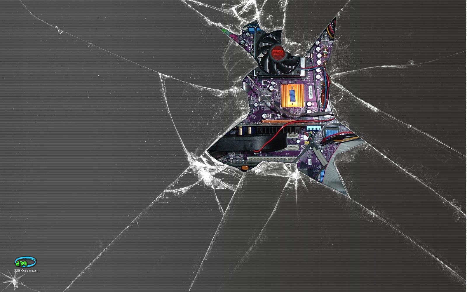 3д Обои Разбитого Экрана