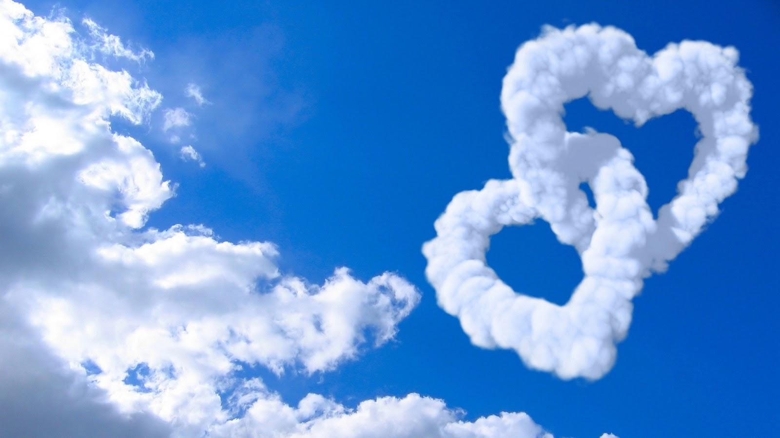 3d love with clouds wallpaper wallpaper for desktop wallpaper 1600x900