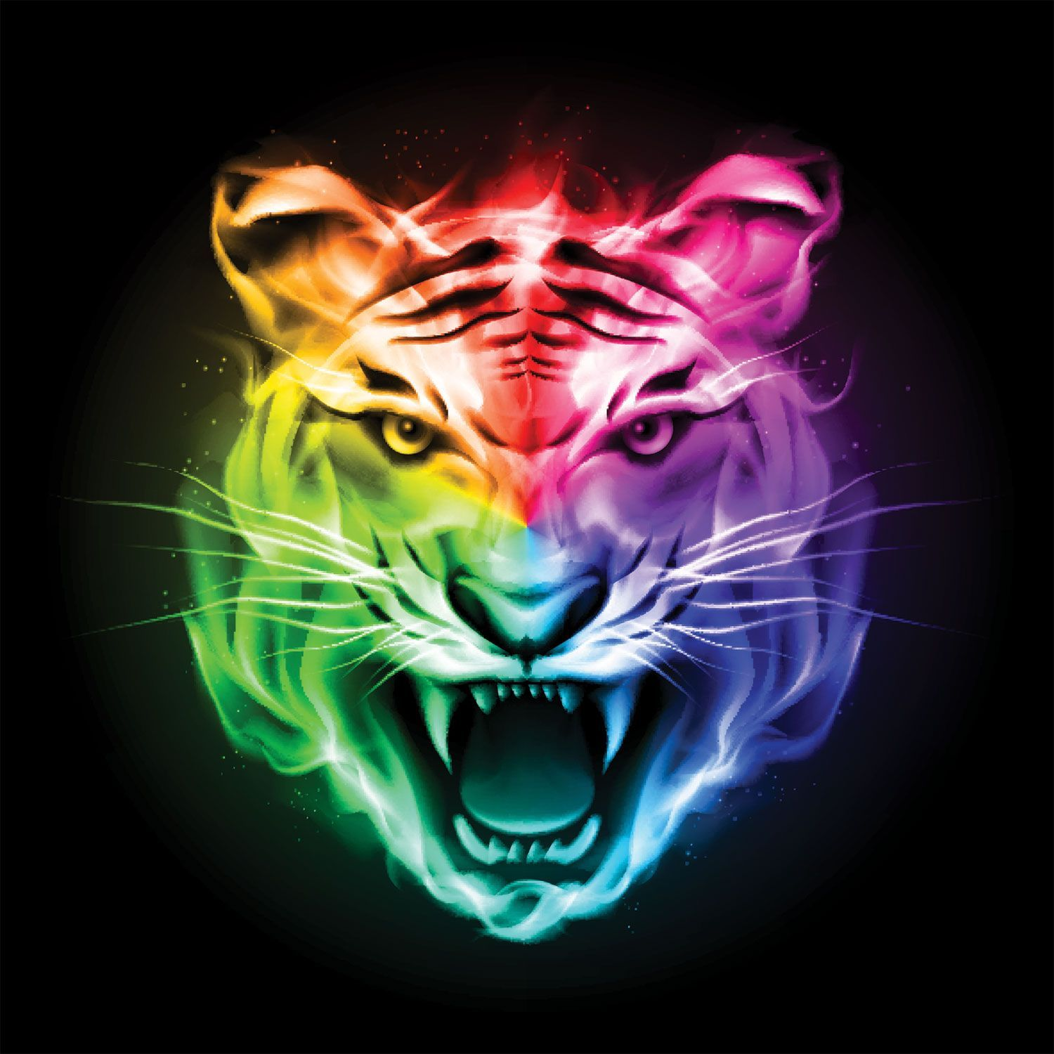 Colorful Tiger Wallpapers   Top Colorful Tiger Backgrounds 1500x1500