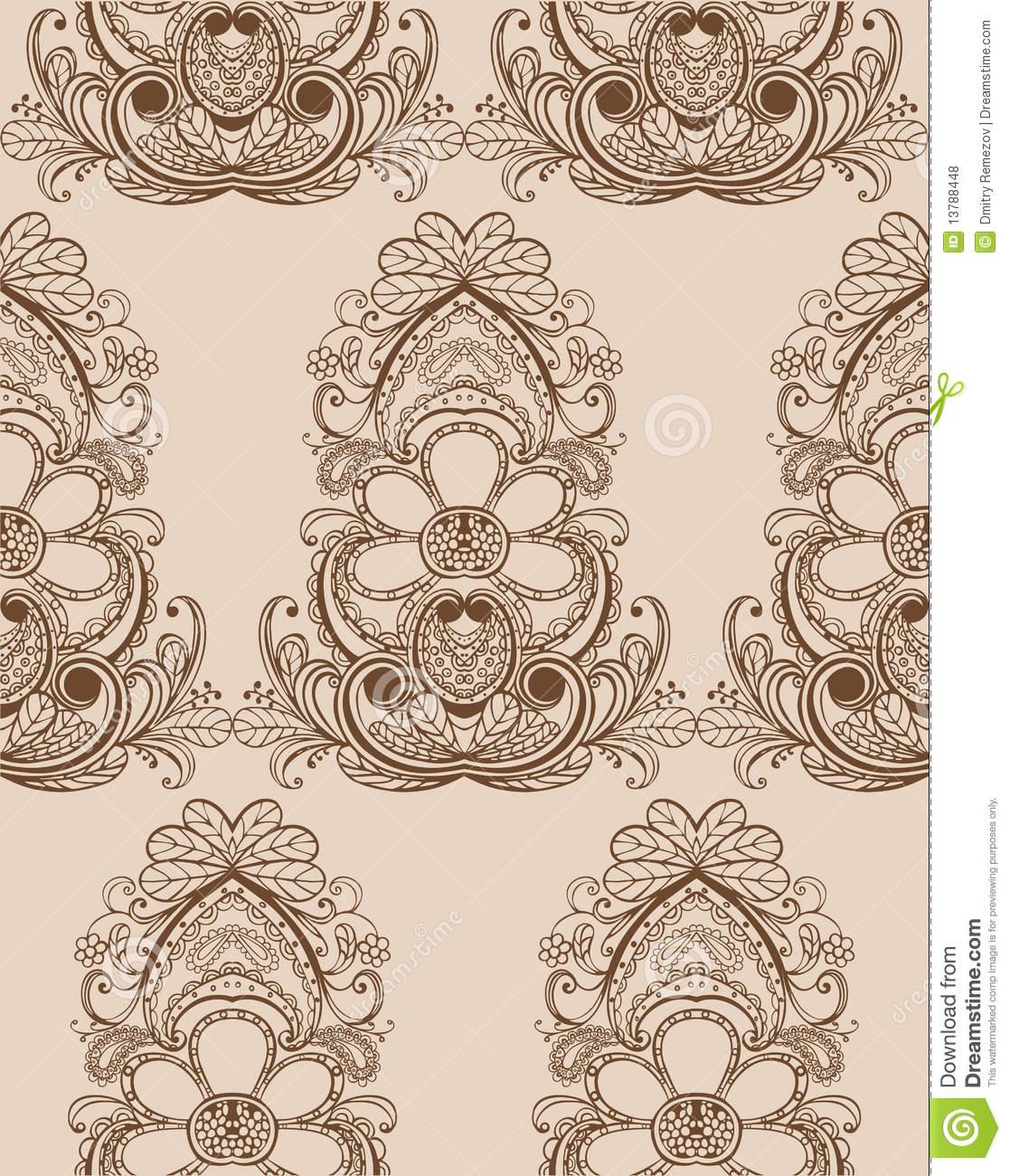 Royalty Stock Photos Seamless damask wallpaper 1117x1300