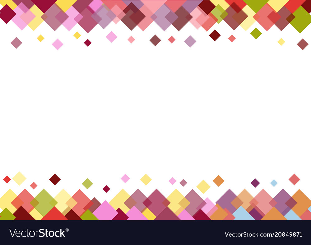 Colorful border of squares on white background Vector Image 1000x787