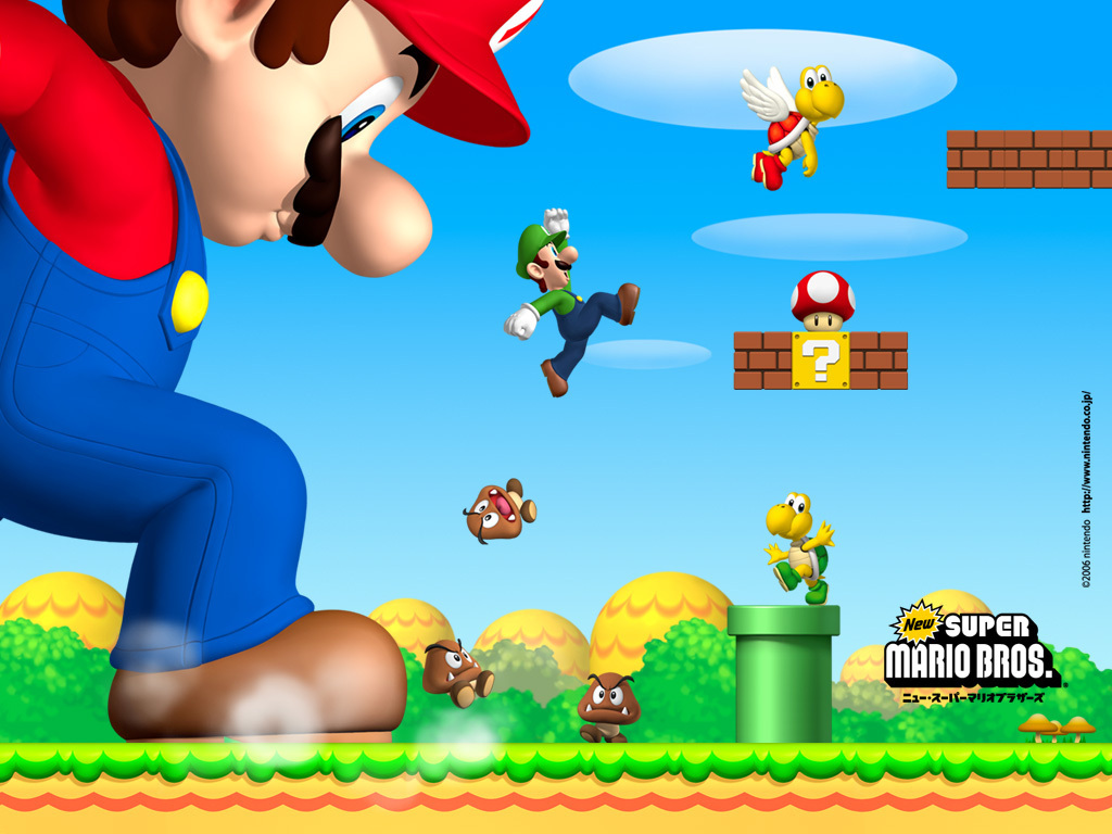Free Download Super Mario Bros New Super Mario Brothers 1024x768