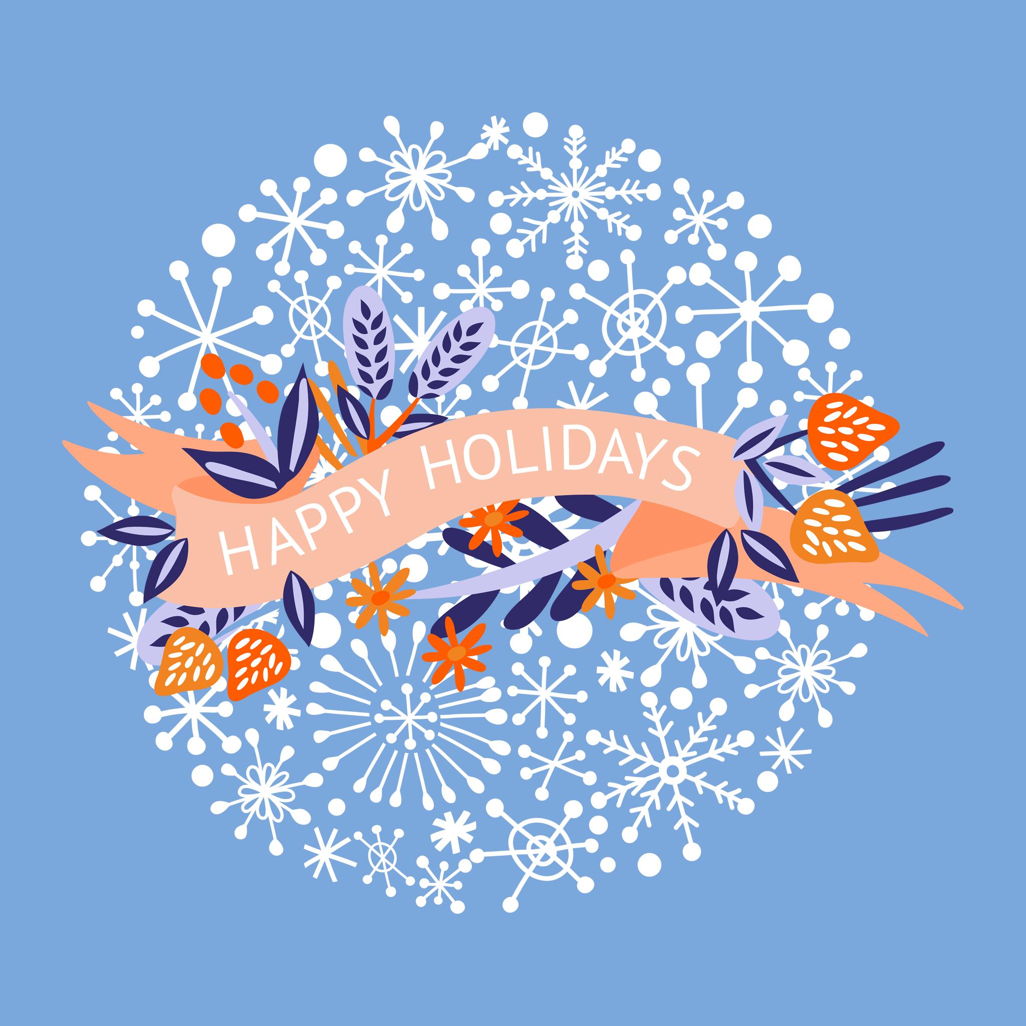 wallpaper happy holidays ipad 2048x2048