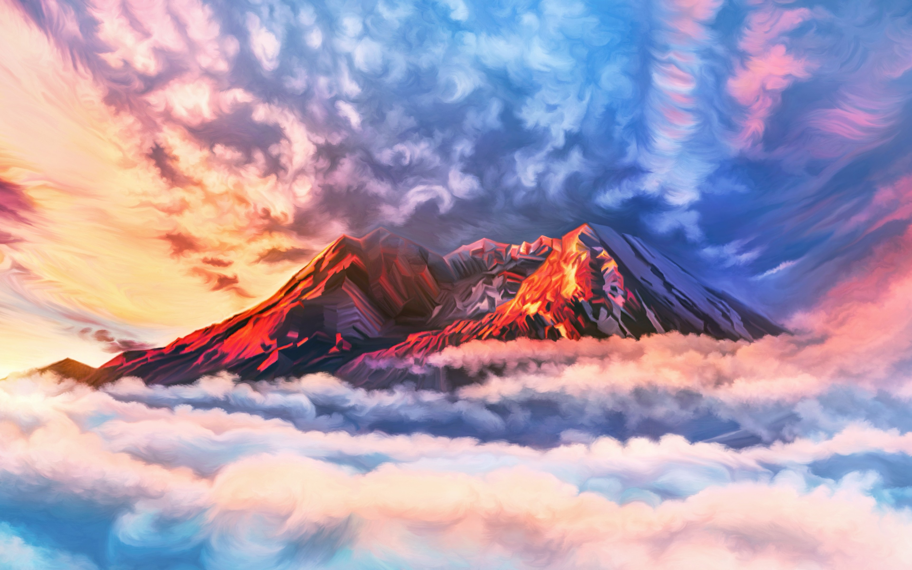 Mountain Above Clouds Background 570951   HD Wallpaper 3840x2400