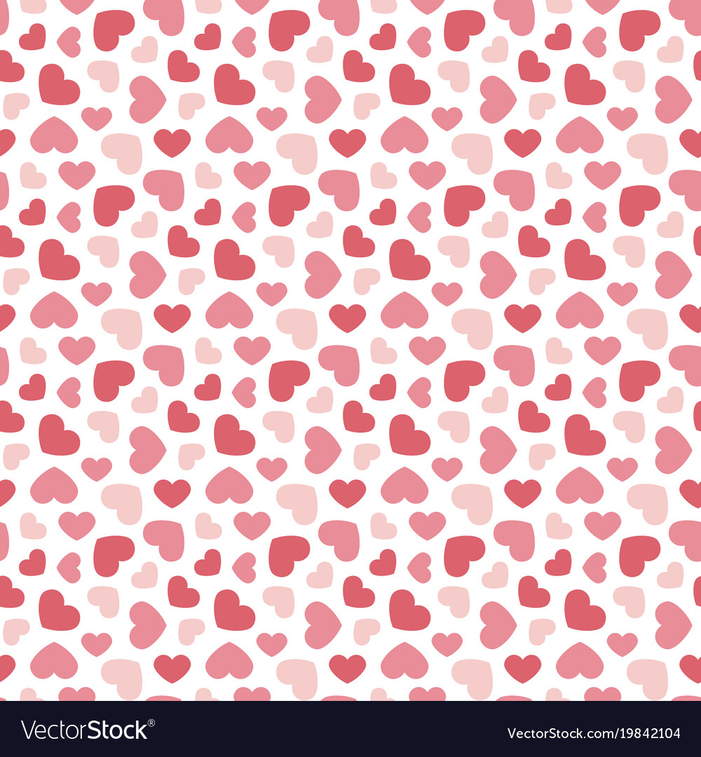 Cute valentines day seamless pattern background Vector Image 1000x1080