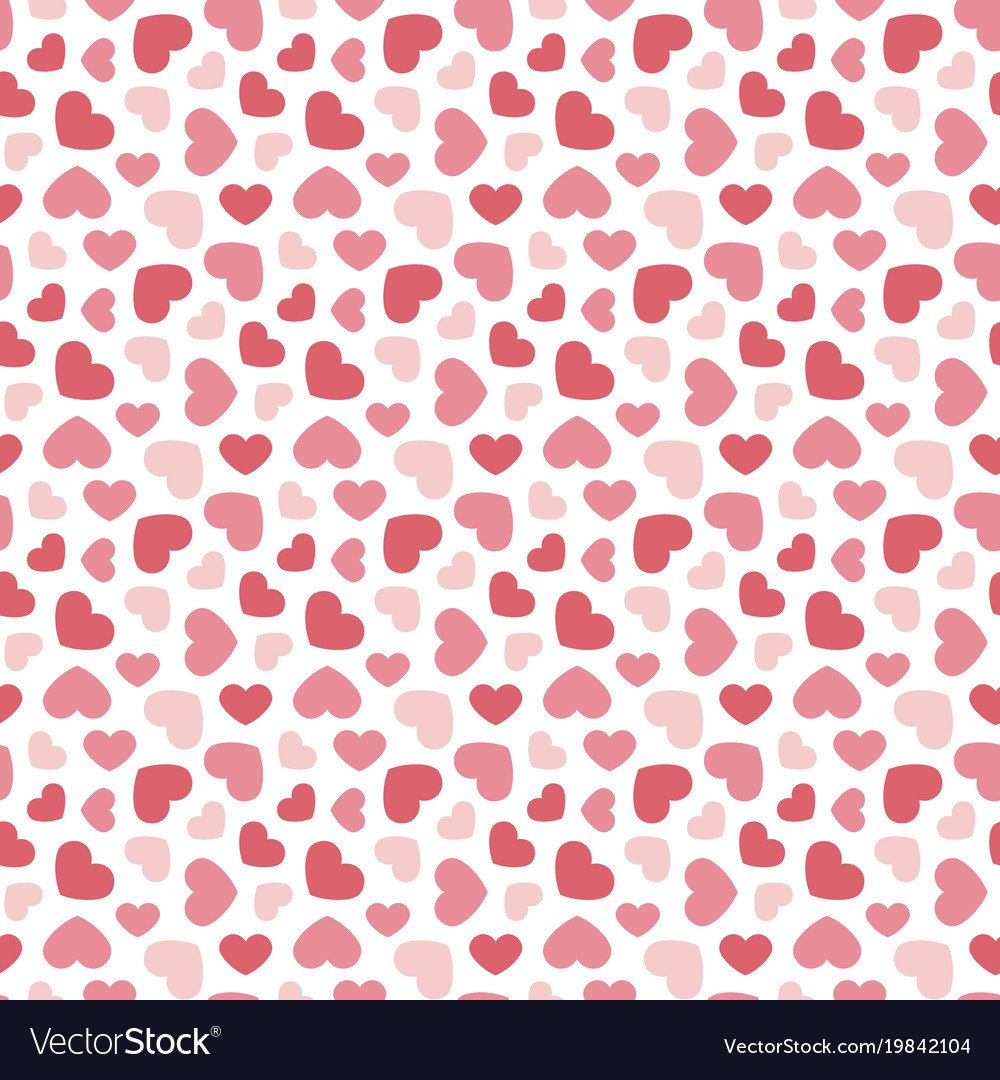 Cute valentines day seamless pattern background Vector Image