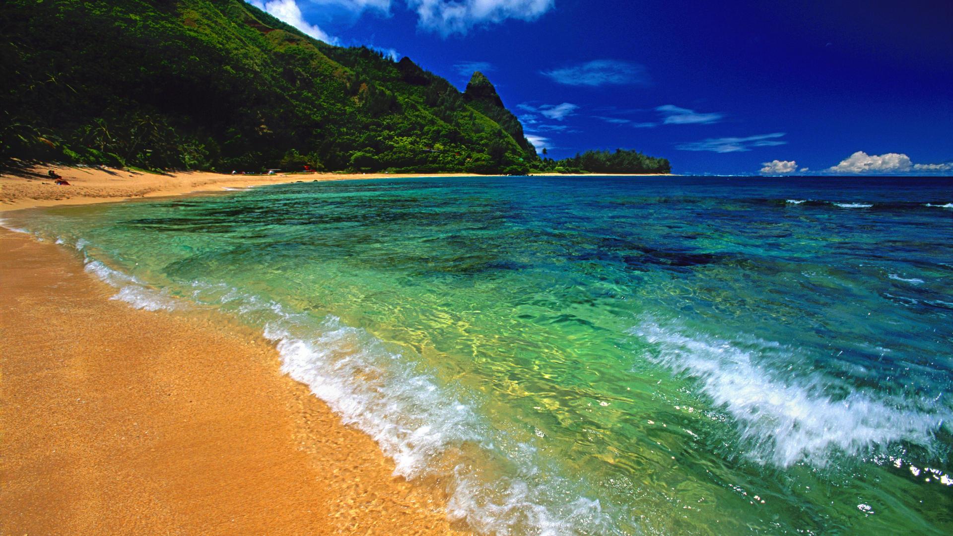 and Wallpaper   Tunnels Beach Kauai Hawaii   Always Download 1920x1080