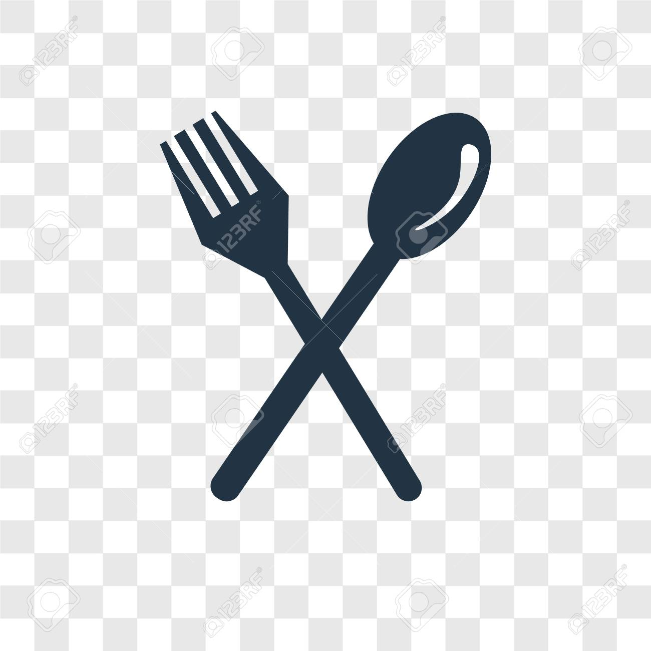 Cutlery Vector Icon Isolated On Transparent Background Cutlery 1300x1300