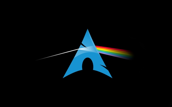 pink floyd linux dark side of the moon arch linux black background 600x375