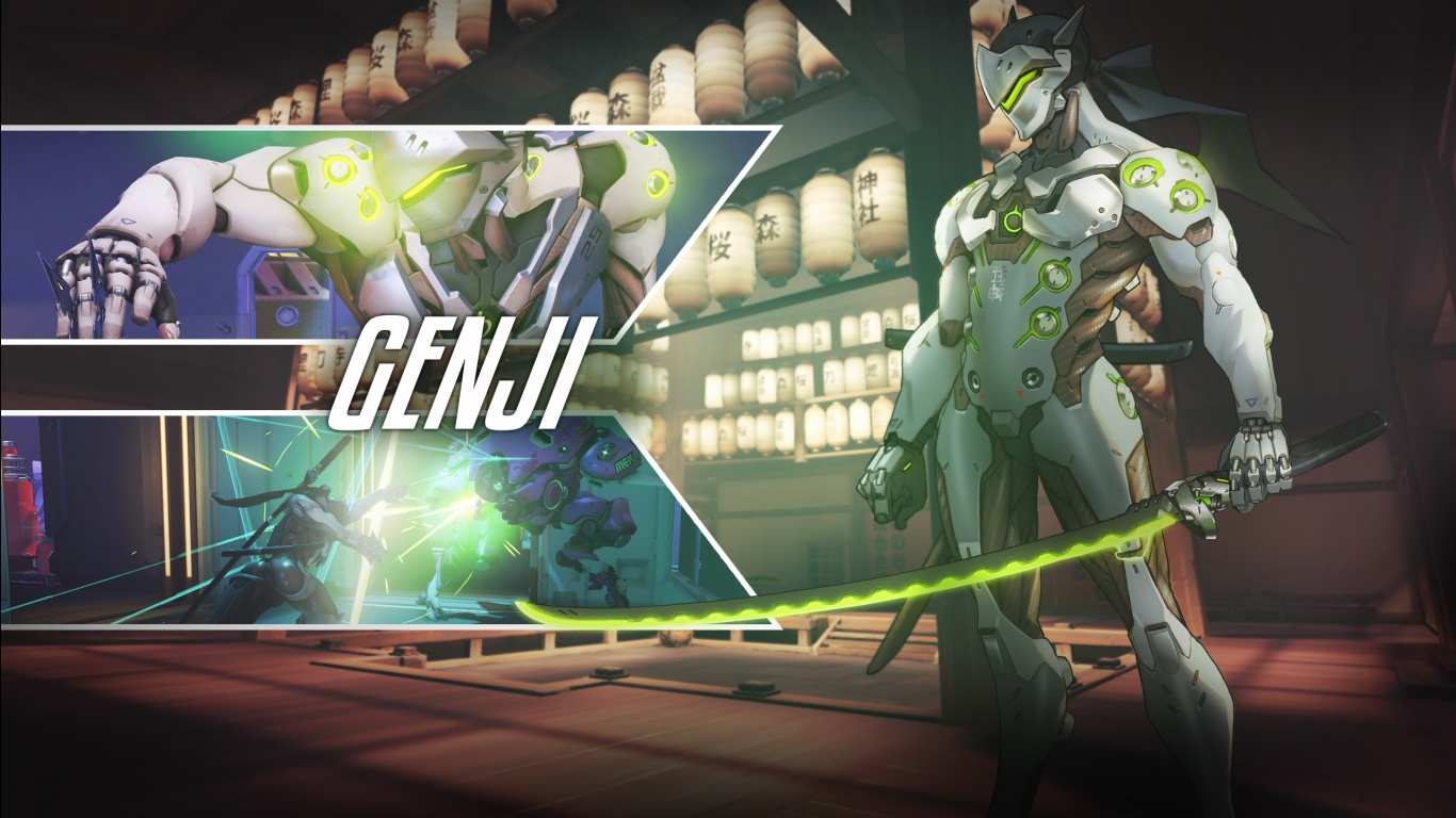 Genji Overwatch Wallpapers HD Wallpapers 1366x768