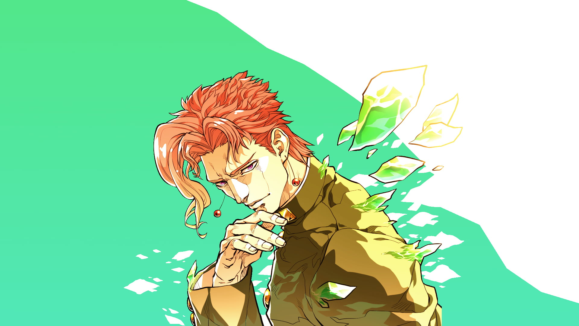 Male anime character anime JoJos Bizarre Adventure Noriaki 1920x1080