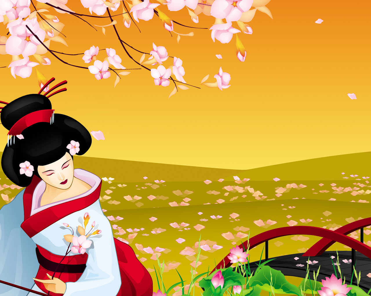 Japan Wallpapers and Images Japanese Geisha Wallpapers and 1280x1024