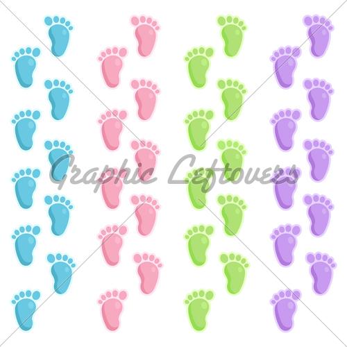 Baby Footprint Background Of cute baby footprints 500x500