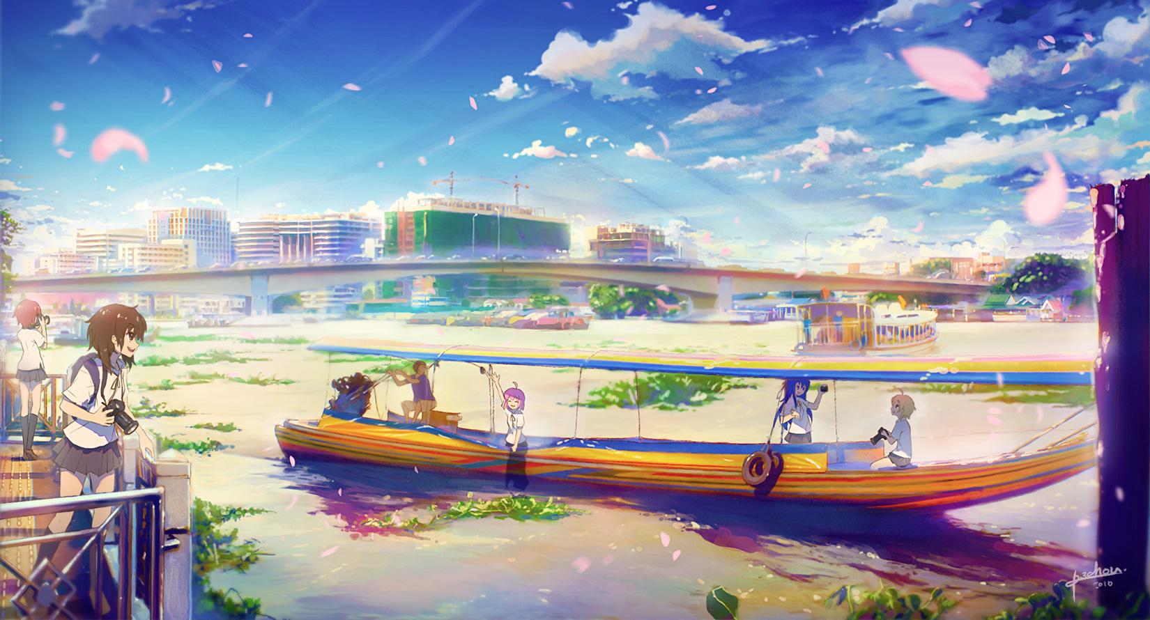 Beautiful Day   Anime Desktop Wallpaper Coolvibe   Digital 1650x890