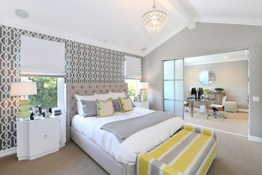 Astonishing Free Download Grey And Yellow Bedroom Wallpaper 917X613 Beutiful Home Inspiration Xortanetmahrainfo