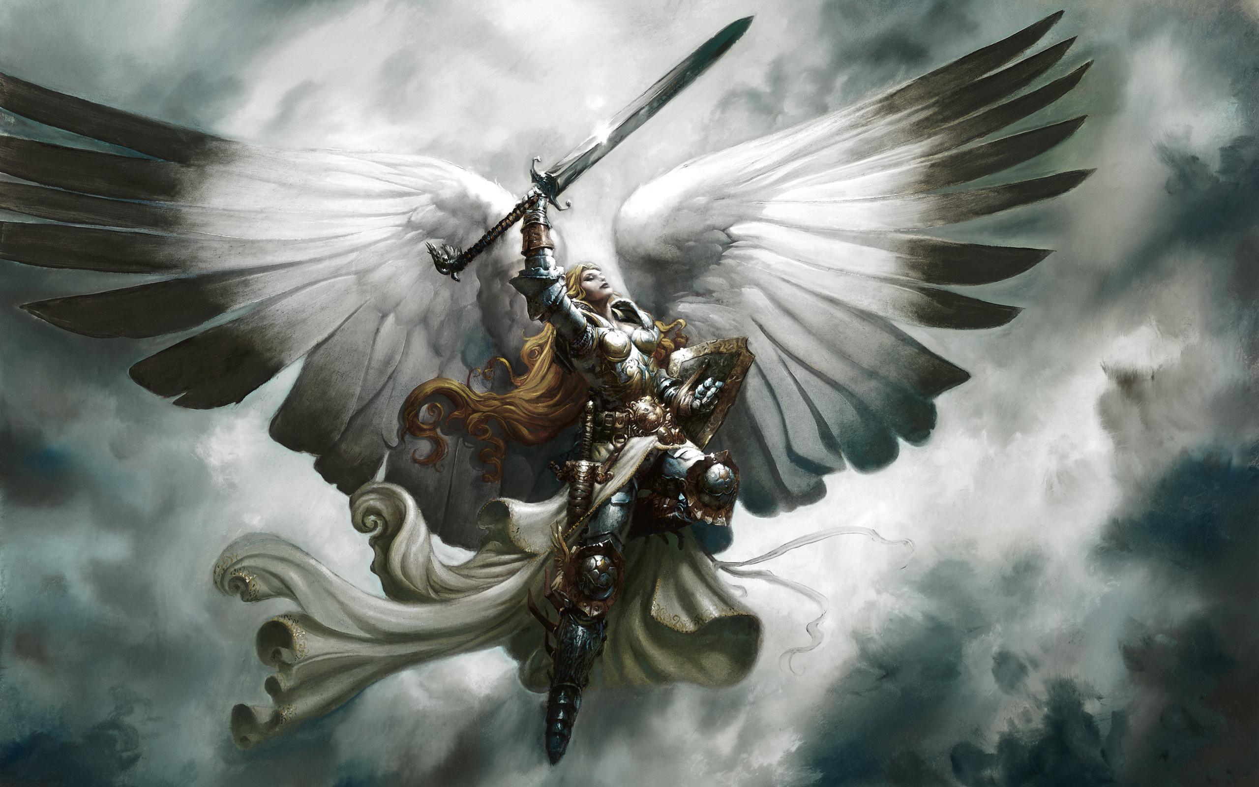 wings fantasy angel war anime art Wallpaper Anime Wallpaper 2560x1600