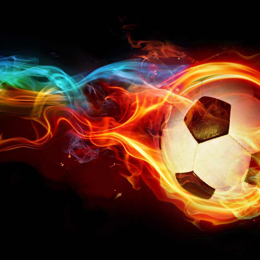 fire soccer ball jpg phone wallpaper by moccacake28 1024x1024