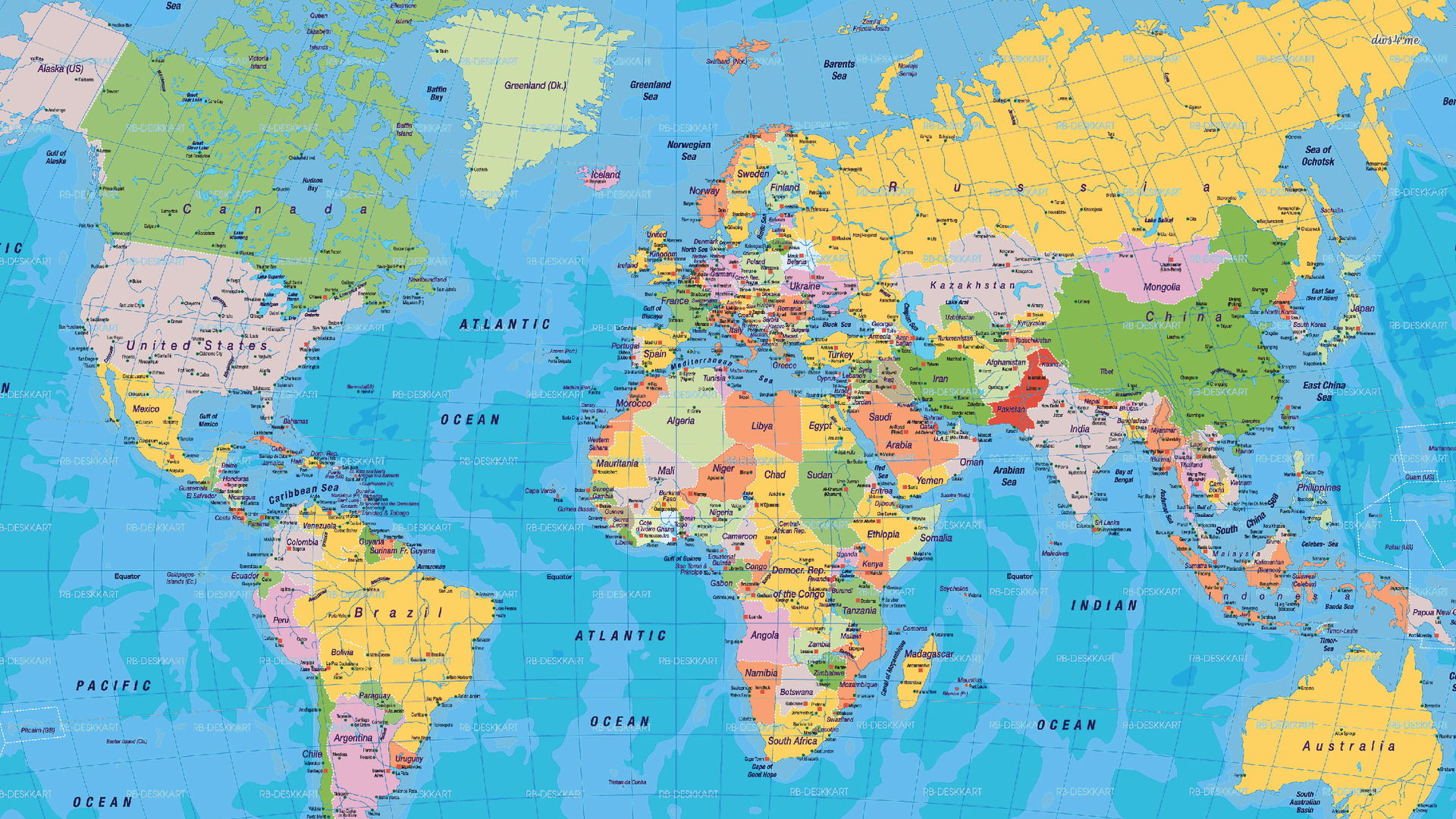 world map country names high resolution wallpaper download world map 1920x1080