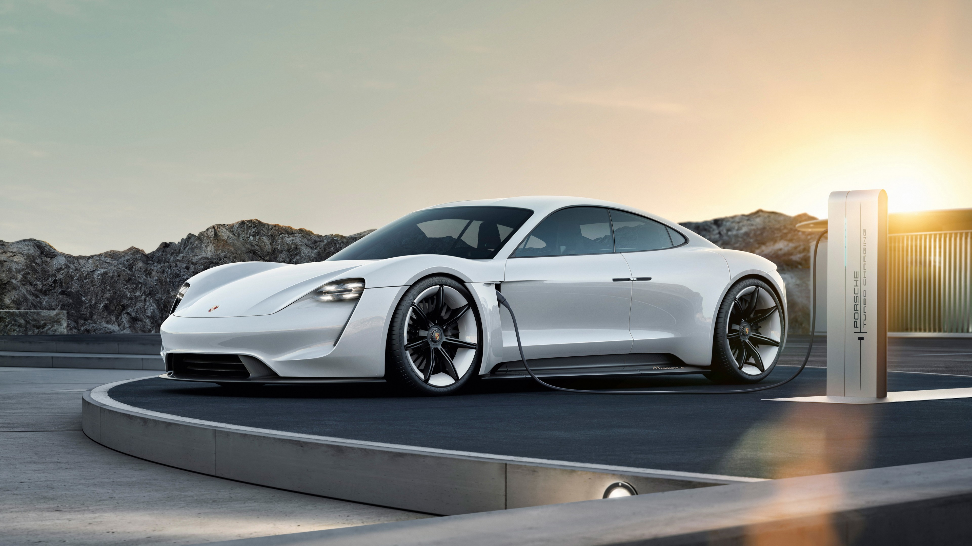 Wallpaper Porsche Taycan Electric Car supercar 2020 Cars 4K 3840x2160