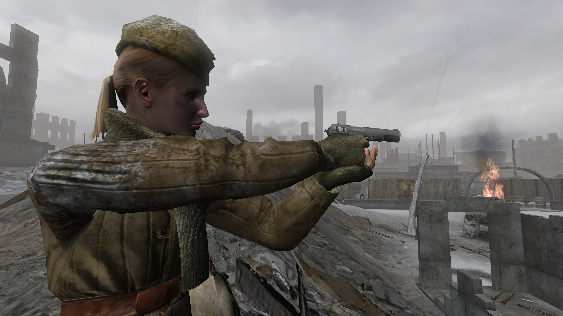 CoD2 random Russian female heads image   Back2Fronts Mod for Call 1920x1080