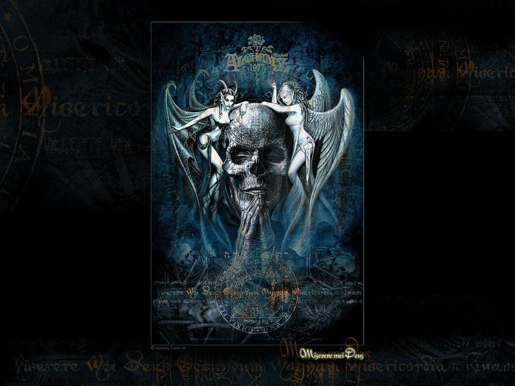 Evil skull wallpapers wallpapersafari - Scary skull backgrounds ...