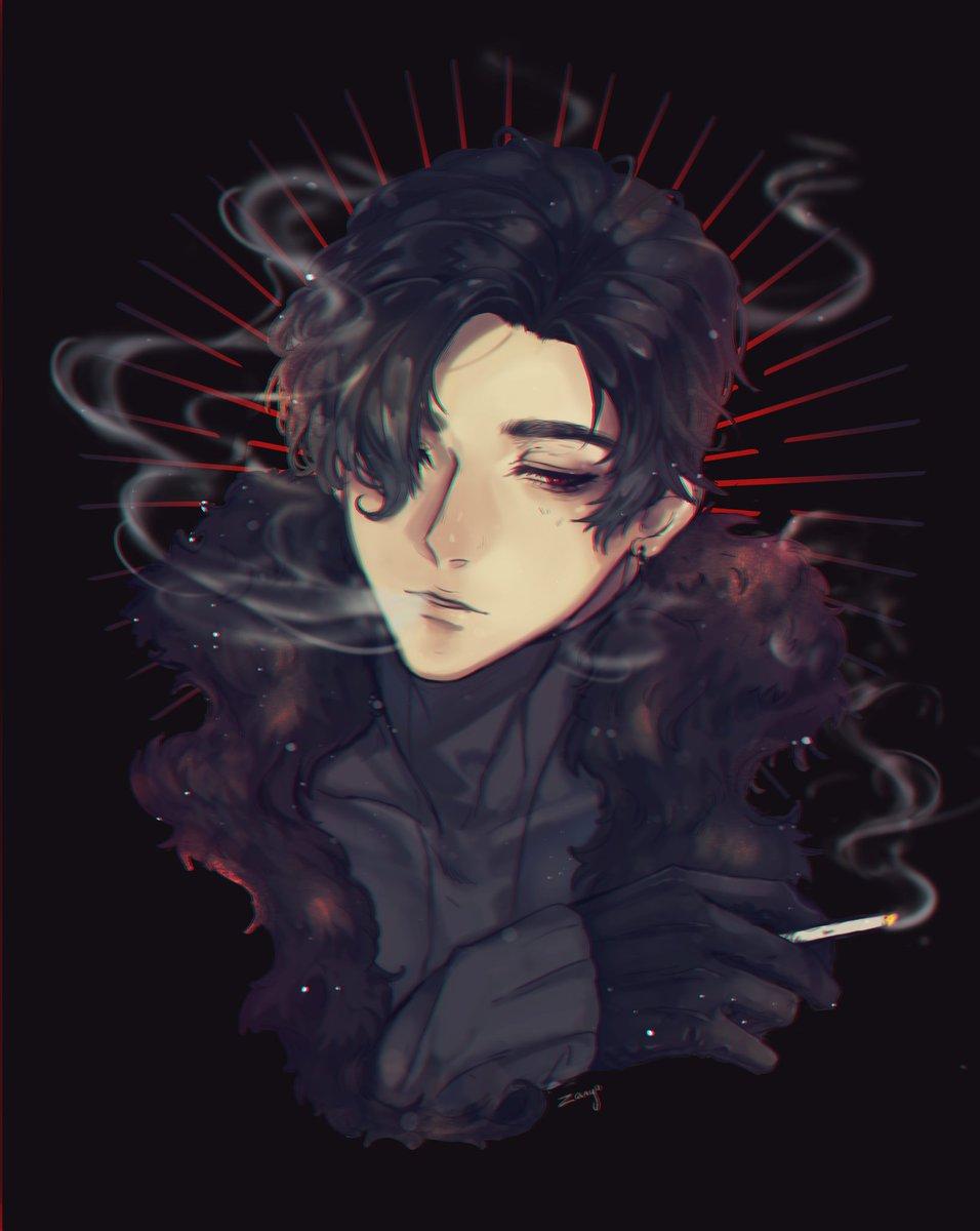 Zany on Twitter Lucifer smoking obeyme obeymeshallwedate 956x1200