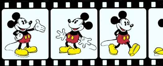 Mickey Mouse Filmstrip Wallpaper Border 1 525x214