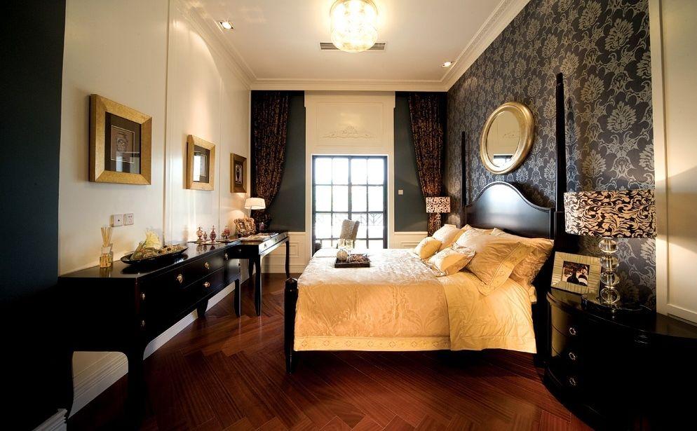 Masculine bedroom wallpaper design 994x615