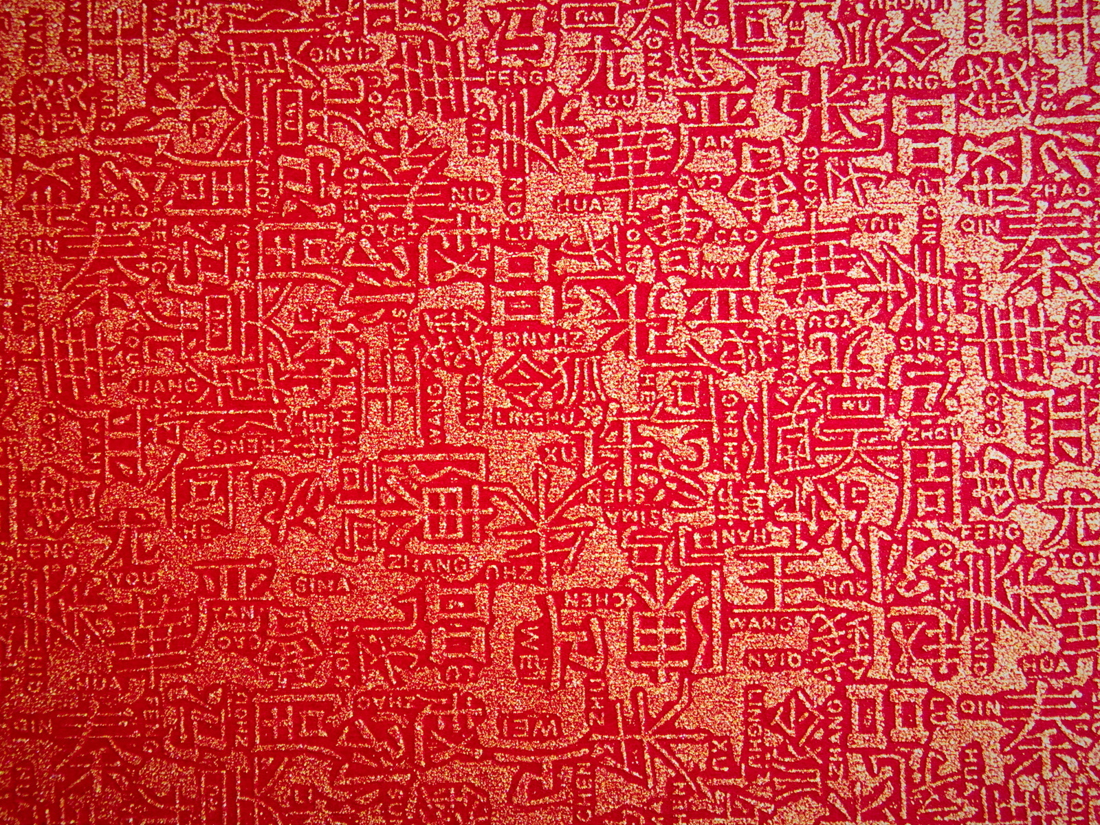Wallpaper Chinese ieroglify red backgrounds textures widescreen 1600x1200