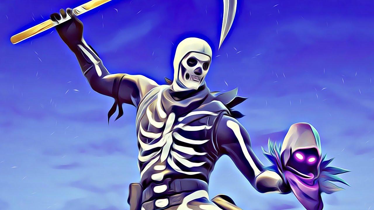 Download Skull Trooper 4K 8K HD Fortnite Battle Royale Wallpaper 1280x720
