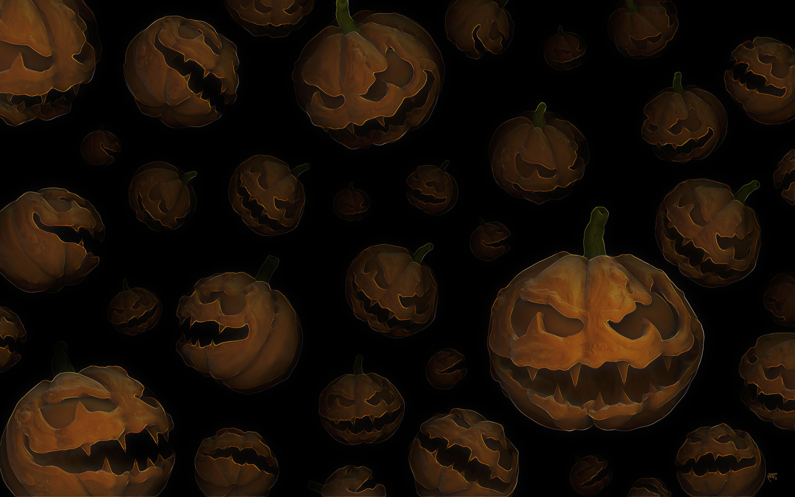 Halloween Pumpkins Wallpaper 65465 2560x1600px 2560x1600
