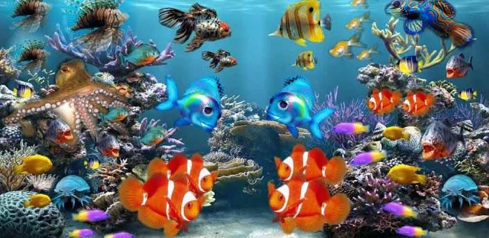 3D Aquarium 1 live wallpaper 705x344