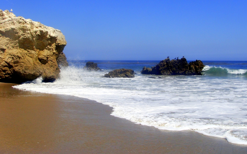 beaches beautiful California Coast Nature Beaches HD Wallpaper 800x500