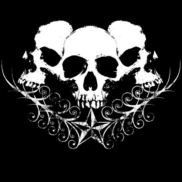 Triple H Skull Logo Wallpaper Triple skull by veefrag 600x600