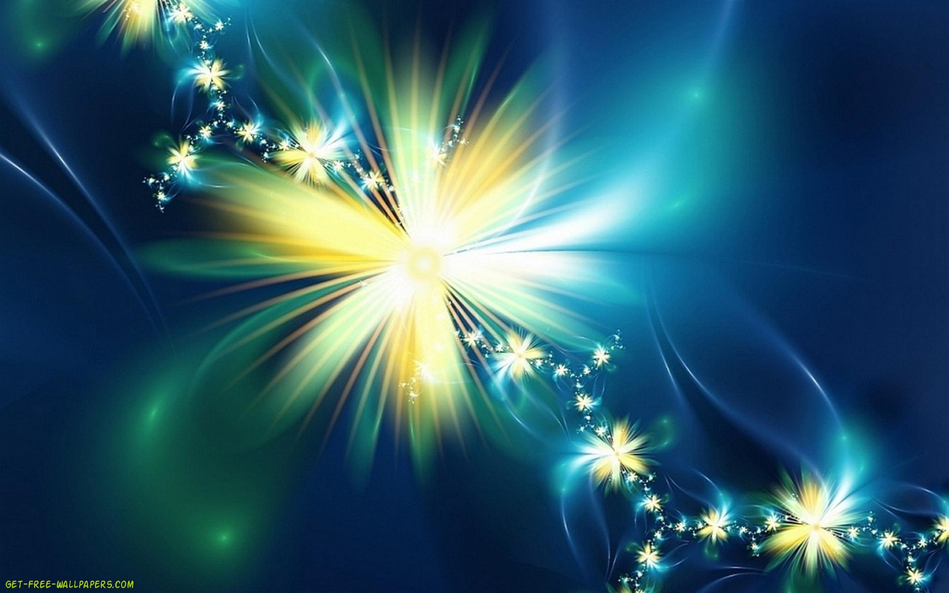 abstract background wallpaper flower desktop blue yellow 1920x1200