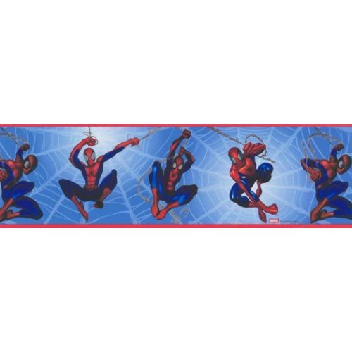Wallpaper Border Spiderman Blue Home Kitchen 500x500