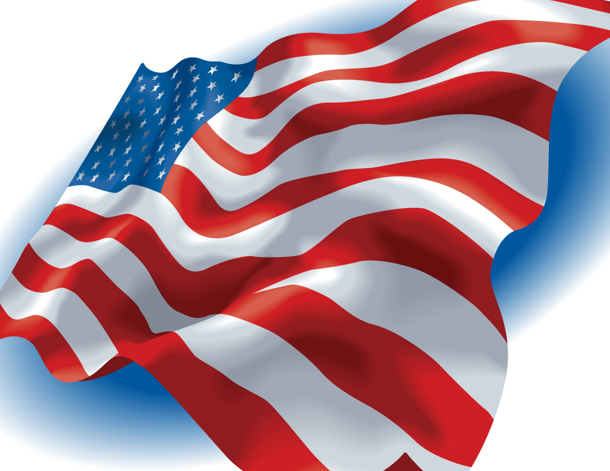 This is a photo of Delicate Patriotic Banner Clipart