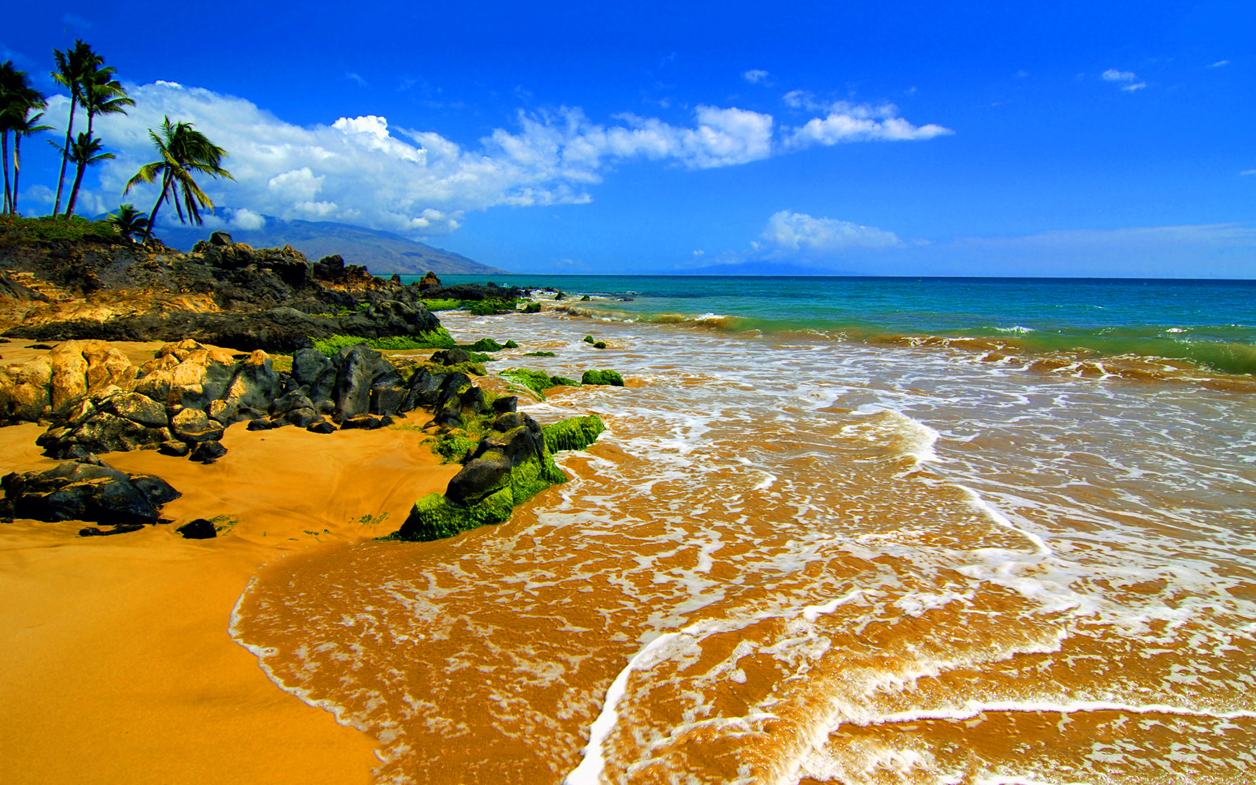 Big Beach Maui Hawaii Hd Wallpapers Wallpapers13com 2560x1600