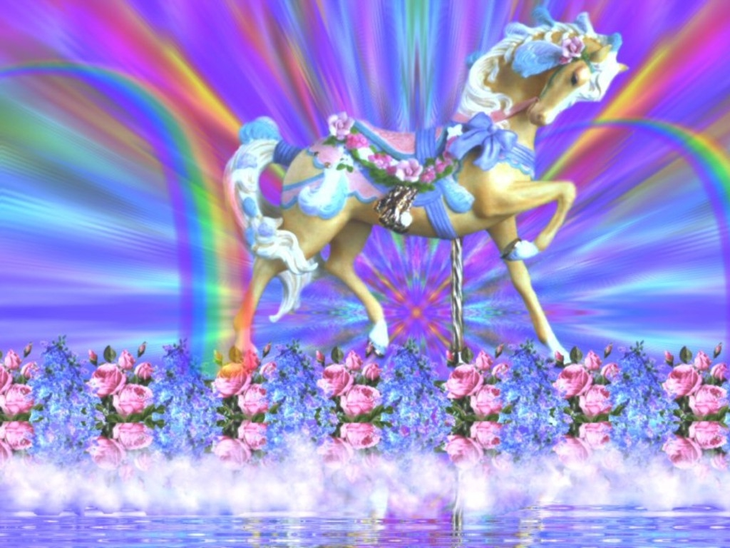 Unicorn Rainbow Wallpapers - WallpaperSafari