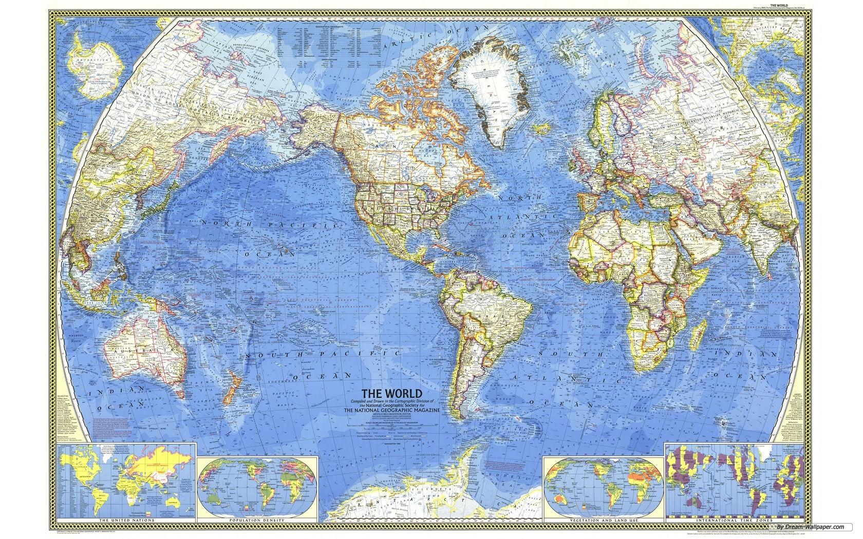 World map desktop wallpaper   Wallpaper Bit 1680x1050