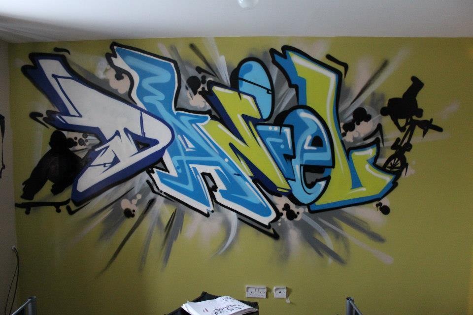 Graffiti Wallpaper hand painted by professional graffiti artists 960x640