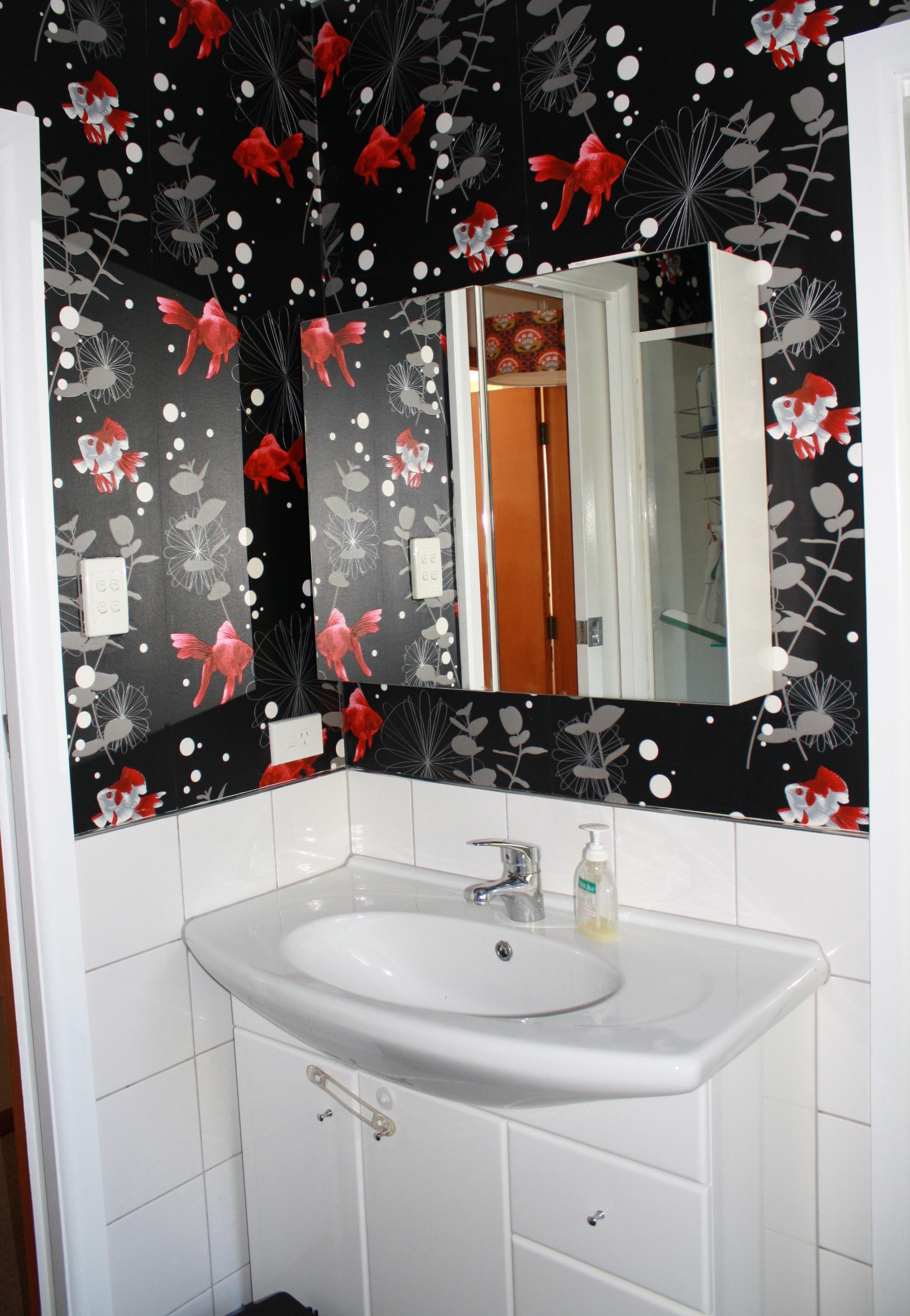 Bathroom Wallpaper The Insides Blog 2401x3472